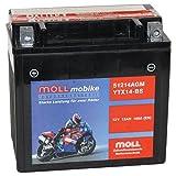 Moll mobike AGM Motorradbatterie YTX14-BS 12Ah 12V...