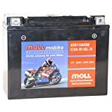 Moll mobike AGM Motorradbatterie C50-N18L-A 20Ah...