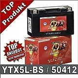 Motorrad Batterie 4Ah - YTX5L-BS - 50412 AGM GEL...