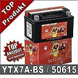 Motorrad Batterie 7Ah YTX7A-BS AGM GEL GTX7A-BS,...
