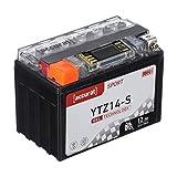 Accurat Motorradbatterie YTZ14-S 12Ah 150A 12V Gel...