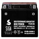 Motorrad Batterie YTX20-BS AGM Gel 20AH 12V...