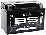 BS Battery 300674 BTX9 AGM SLA Motorrad Batterie,...