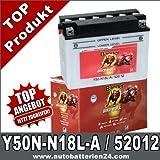 Motorrad Batterie Y50N-N18L-A 20Ah 12Volt 52012...