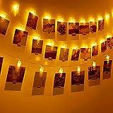 Thinkcase LED-Foto-Clip Lichterketten, 40...