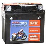 Moll mobike AGM Motorradbatterie YTX5L-BS 4Ah 12V...