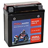 Moll mobike AGM Motorradbatterie CB5L-B 5Ah 12V...