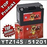 Blei GEL Motorrad Batterie 11Ah 12V YTZ14-S,...