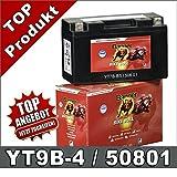 Motorrad Batterie YT9B-4 AGM GEL 8Ah 12Volt 50801...