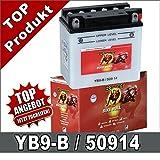 Motorrad Batterie YB9-B, CB9-B 9Ah 12Volt 50914...
