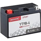 Accurat Motorradbatterie Sport YT9B-4 8 Ah 170 A...