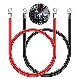 Swetup Autobatterie Kabel mit Sicherung, 2 Stück...