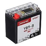 Accurat Motorradbatterie YB9-B 9Ah 90A 12V Gel...