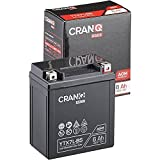 CranQ 12V 6Ah 100A AGM-Batterie YTX7L-BS...