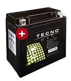 TECNO GEL Motorrad-Batterie YTX14-BS, 12V...