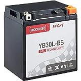 Accurat Motorradbatterie Sport YB30L-BS 30 Ah 300...