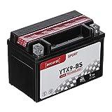 Accurat Motorradbatterie YTX9-BS 9Ah 120A 12V...
