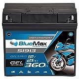BlueMax +30 Motorsport Motorradbatterie GEL 12V...