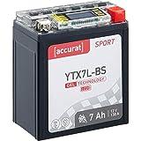 Accurat Motorradbatterie Sport YTX7L-BS 7 Ah 130 A...