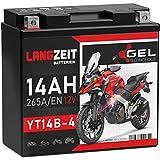 LANGZEIT YT14B-4 Motorradbatterie 12V 14Ah 265A/EN...