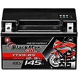 BlackMax YTX9-BS GEL Motorradbatterie 12V 9Ah...
