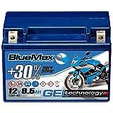 Motorradbatterie GEL 12V 9,5Ah BlueMax YTX9-BS...
