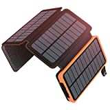 A ADDTOP Solar Powerbank 25000mAh Tragbare Solar...