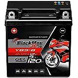 BlackMax YB9-B Motorradbatterie GEL 12V 9Ah...