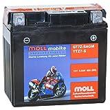 Moll mobike AGM Motorradbatterie YT7Z-S 5,5Ah 12V...