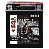BSA Motorradbatterie AGM 100A/EN 12V 6AH YTX7L-BS...