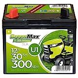GreenMax U1 Garden Power Rasentraktor-Batterie 12V...