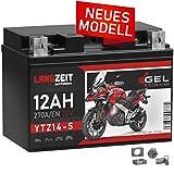 LANGZEIT YTZ14-S Motorradbatterie GEL 12V 12Ah...