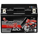 BlackMax YT9B-4 Motorrad Batterie GEL 12V 8Ah...