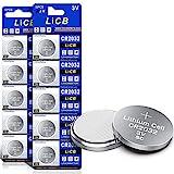 LiCB 10 Stück CR2032 3V Lithium Knopfzellen CR...