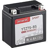 Accurat Motorradbatterie YTZ7S-BS 6 Ah 120 A 12V...