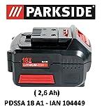 PARKSIDE AKKU 18V 2,6Ah PAP 18-2.6 A1 für PDSSA...