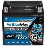 BlueMax YTX20-BS Motorradbatterie GEL 12V 20Ah...