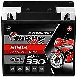 BlackMax G19 51913 Motorradbatterie GEL 12V 21Ah...
