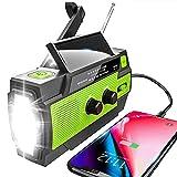 YIKANWEN Solar Radio,AM/FM Kurbelradio Tragbar USB...