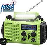 AM/FM/SW Baustellenradio Kurbelradio, Tragbares...