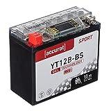 Accurat Motorradbatterie YT12B-BS 10Ah 160A 12V...
