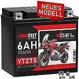 LANGZEIT YTZ7S GEL Motorradbatterie 12V 6Ah...