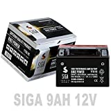SIGA Motorradbatterie 12V 9Ah AGM Batterie YTX9-BS...