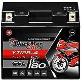 BlackMax GT12B-4 Motorradbatterie GEL 12V 11Ah...