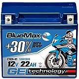 BlueMax YTX20-BS Motorradbatterie GEL 12V 22Ah...