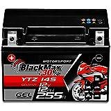 BlackMax YTZ14S Motorradbatterie GEL 12V 12Ah...