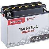 Accurat Motorrad-Batterie Y50-N18L-A 20Ah 260A 12V...