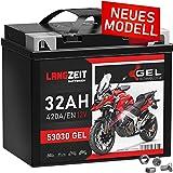 LANGZEIT Y60-N30L-A GEL Motorradbatterie 12V 32Ah...