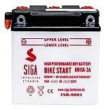 SIGA Motorradbatterie 6V 11Ah 100A/EN Batterie...