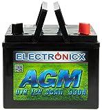 Electronicx 30Ah AGM Batterie Rasentraktor...